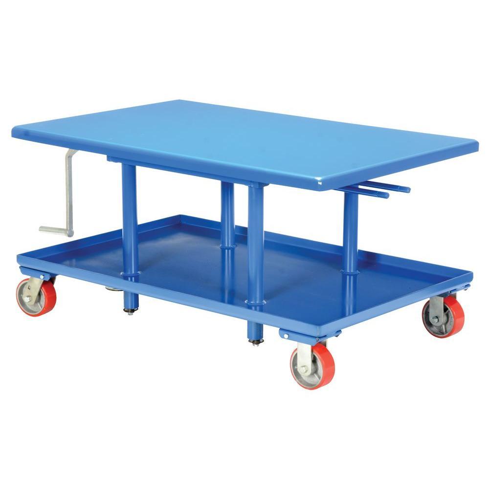 2 000 Lb Capacity Low Profile Mechanical Post Table