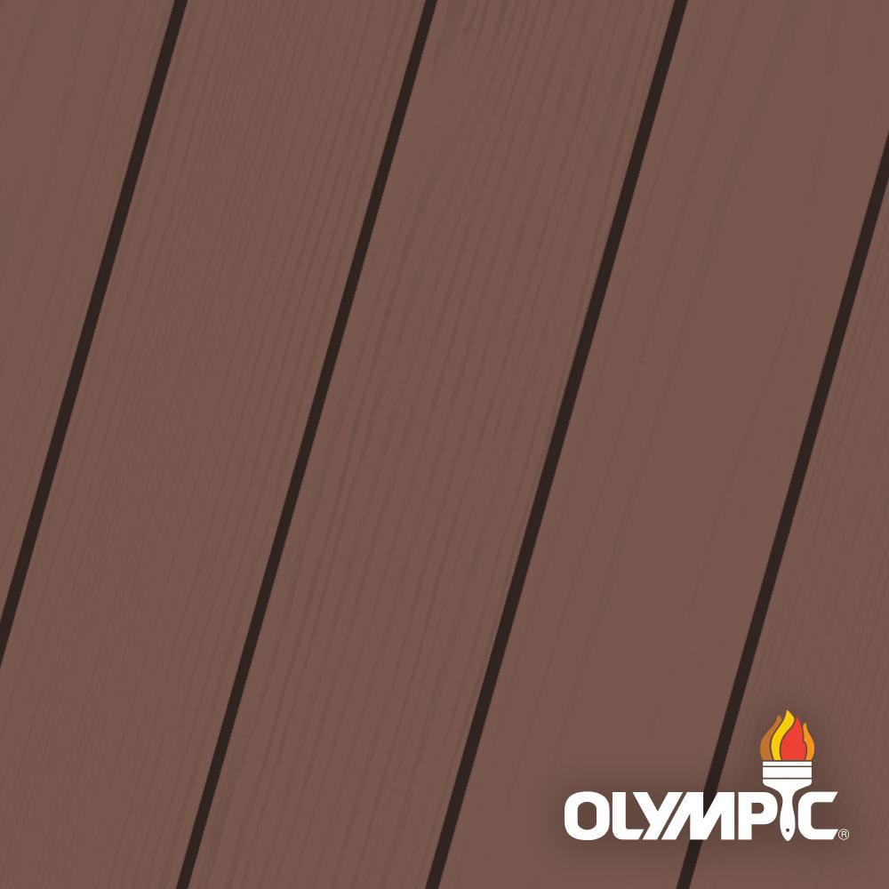 Wood Stain Dusk: Olympic Maximum 1 Gal. Russet Solid Color Exterior Stain