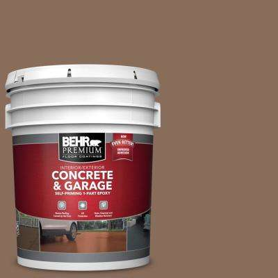 5 gal. #N190-6 Nut Brown Self-Priming 1-Part Epoxy Satin Interior/Exterior Concrete and Garage Floor Paint