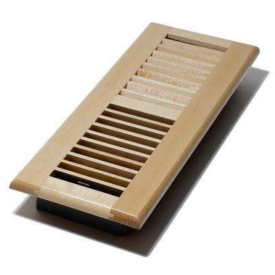 4 in. x 14 in. Maple Floor Register