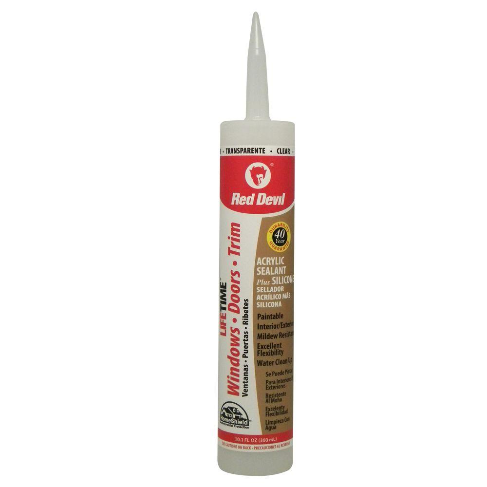 Lifetime 10 1 Oz Pro Clear Siliconized Acrylic Adhesive Sealant