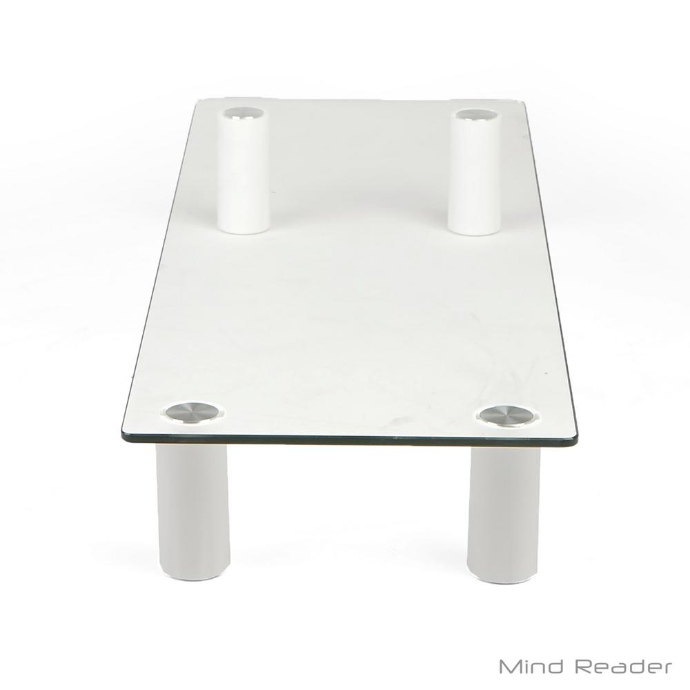 Mind Reader Glass Monitor Stand Riser Clear