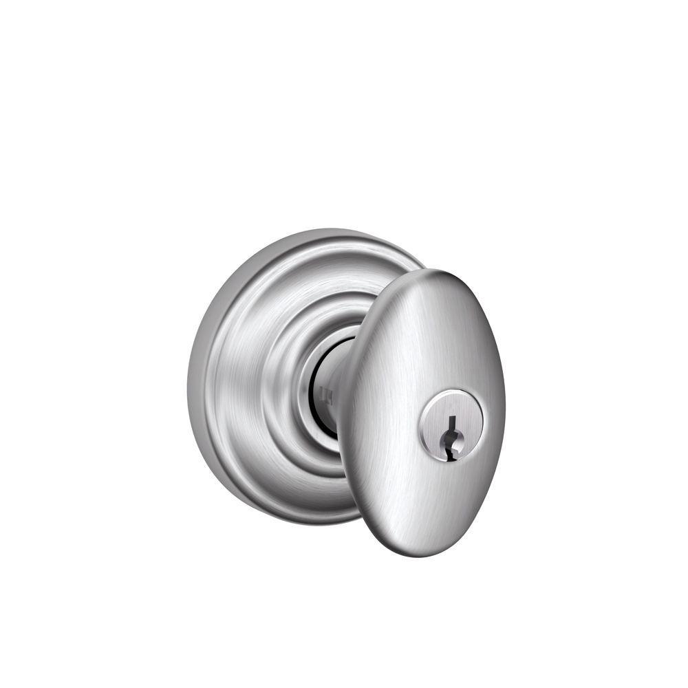 Schlage - Chrome - Entry Door Knobs - Door Knobs - The Home Depot