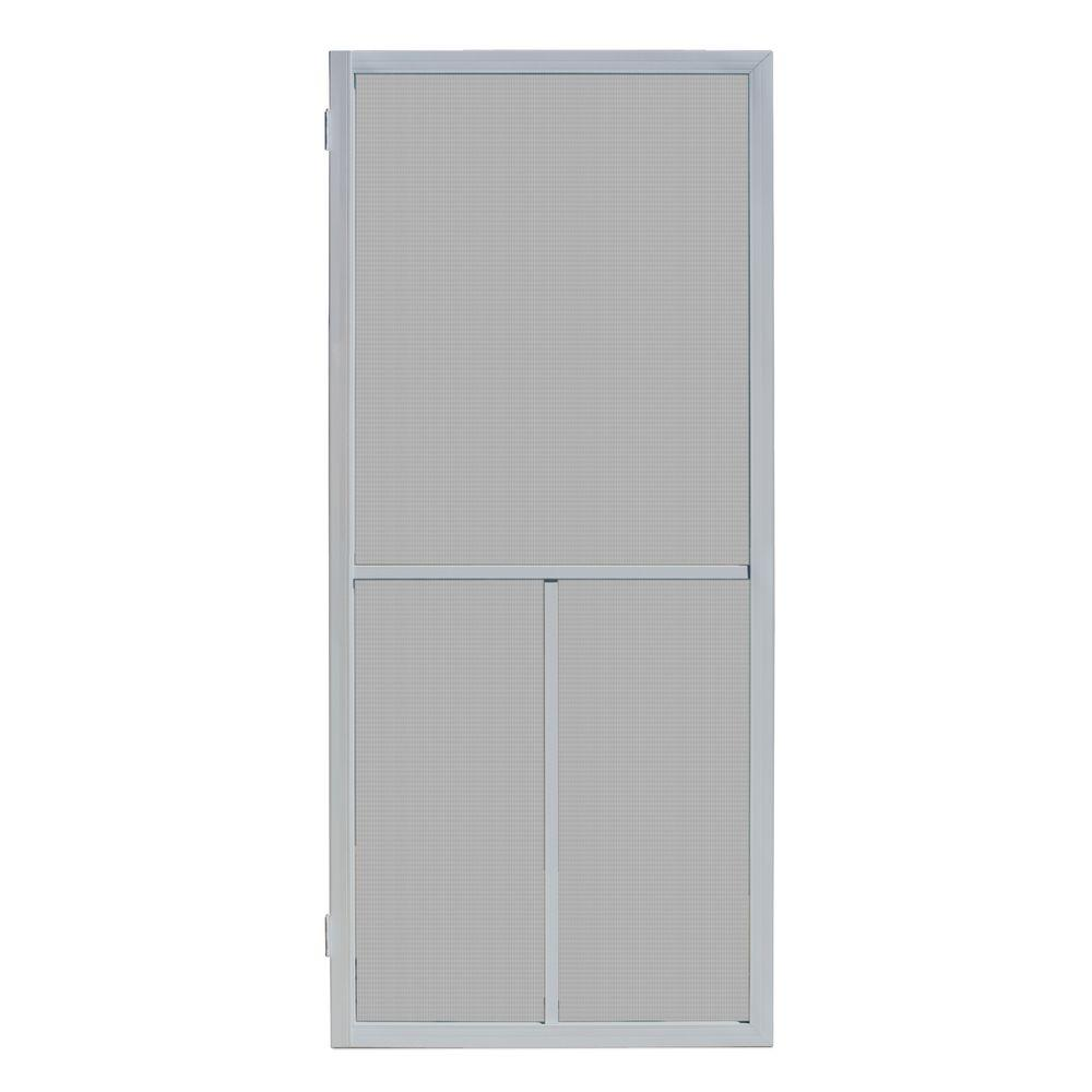 Unique home designs 32 in x 80 in ventura grey outswing - 30 x 80 exterior door with pet door ...