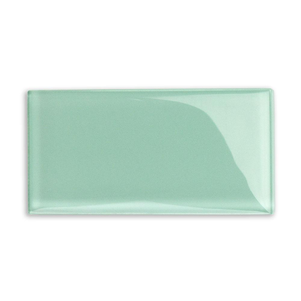 Splashback Tile Contempo Spa Green Polished 3 in. x 6 in. x 8 mm ...
