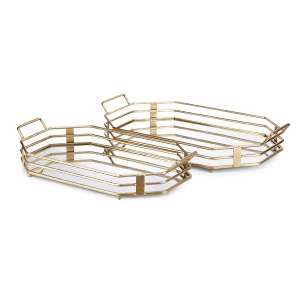 Piculla Gold Trays (Set of 2)