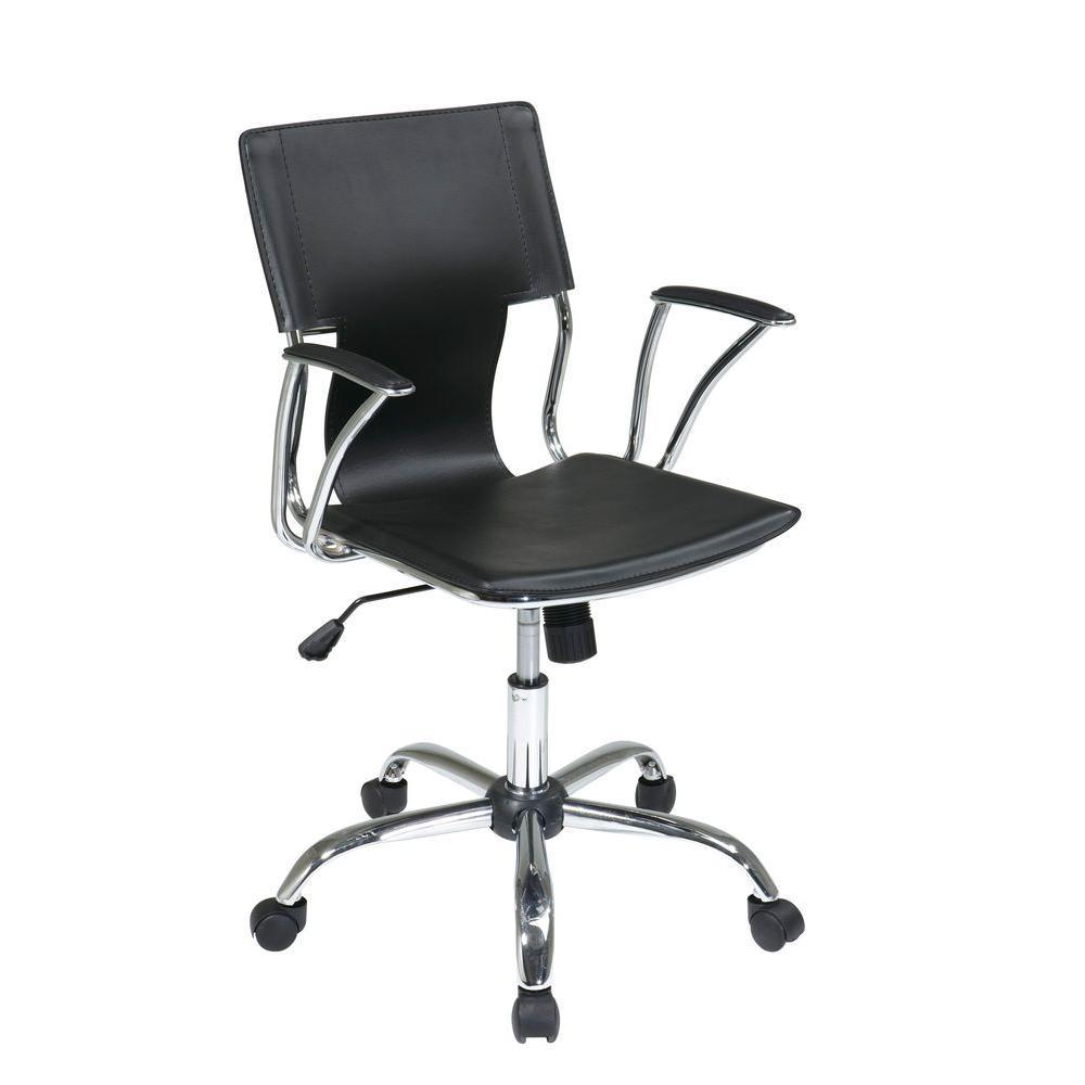 Dorado Black Vinyl Office Chair