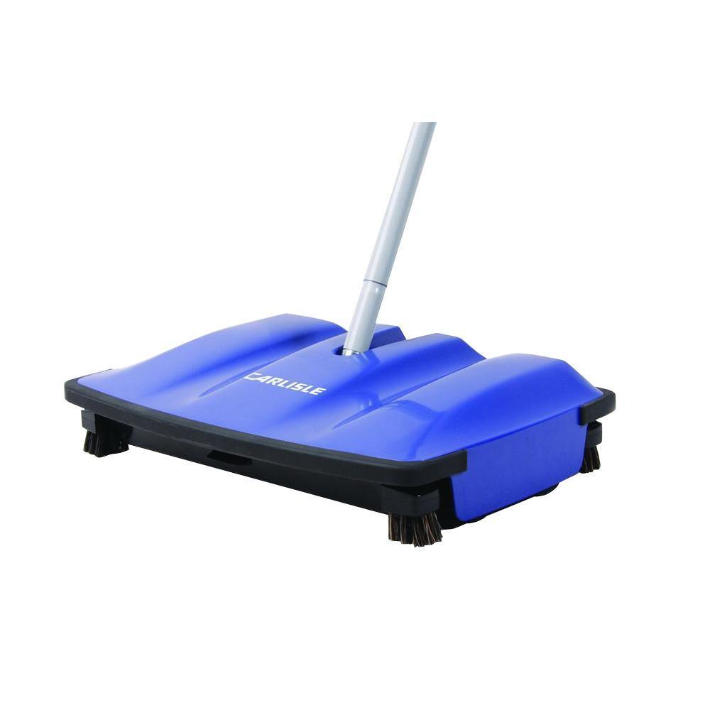 Carlisle 12 in. Duo-Sweeper Floor Sweeper in Blue (4-Pack...