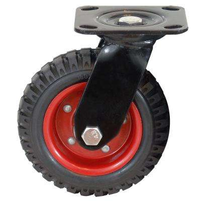 Swivel Heavy-Duty Industrial Caster, 8 in. Wheel Dia