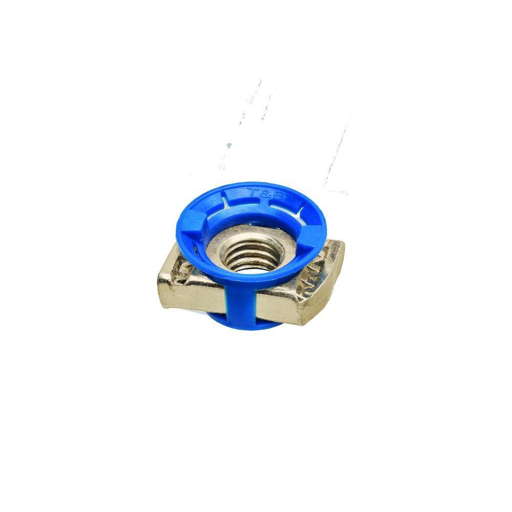 Superstrut 1/4 in. Nylon Strut Cone Nut - Gold Galvanized (5-Pack)
