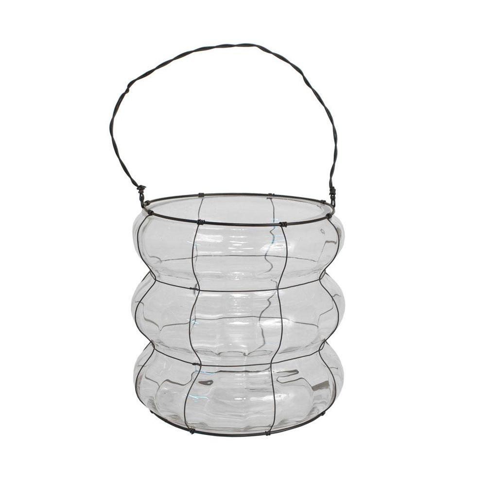 Home Decorators Collection Meredith Clear 8 in. W Hurricane Candle Holder