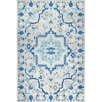 Celestial Contemporary Blue 8 ft. x 10 ft. Indoor/Outdoor Area Rug