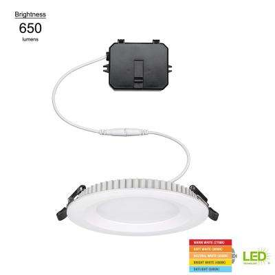 4 in. Integrated LED Ultra Slim Low Profile Edge Lit Ceiling Light Remodel New Construction Downlight Recessed Kit