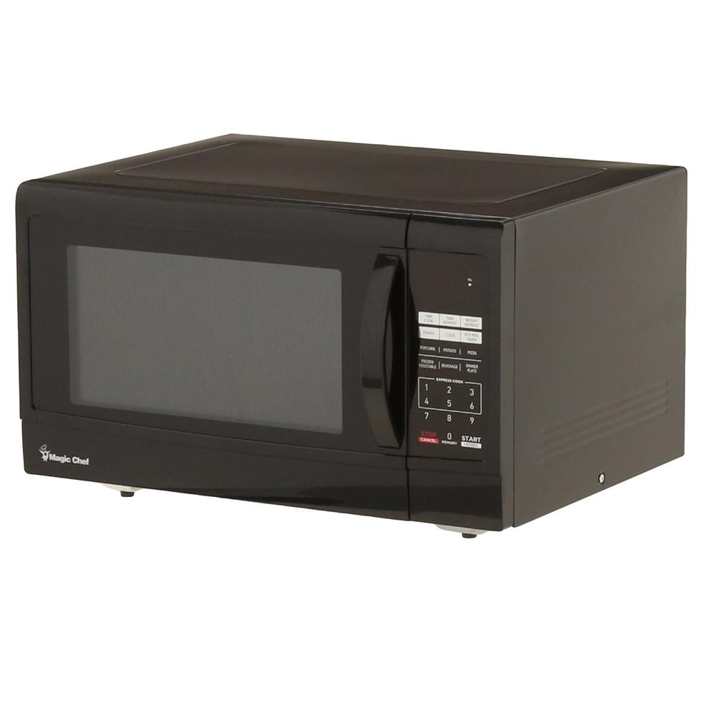 Magic Chef 1 6 Cu Ft Countertop Microwave In Black