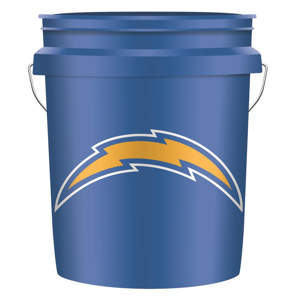 Leaktite 5 Gal Chargers Nfl Bucket 0517919 The Home Depot