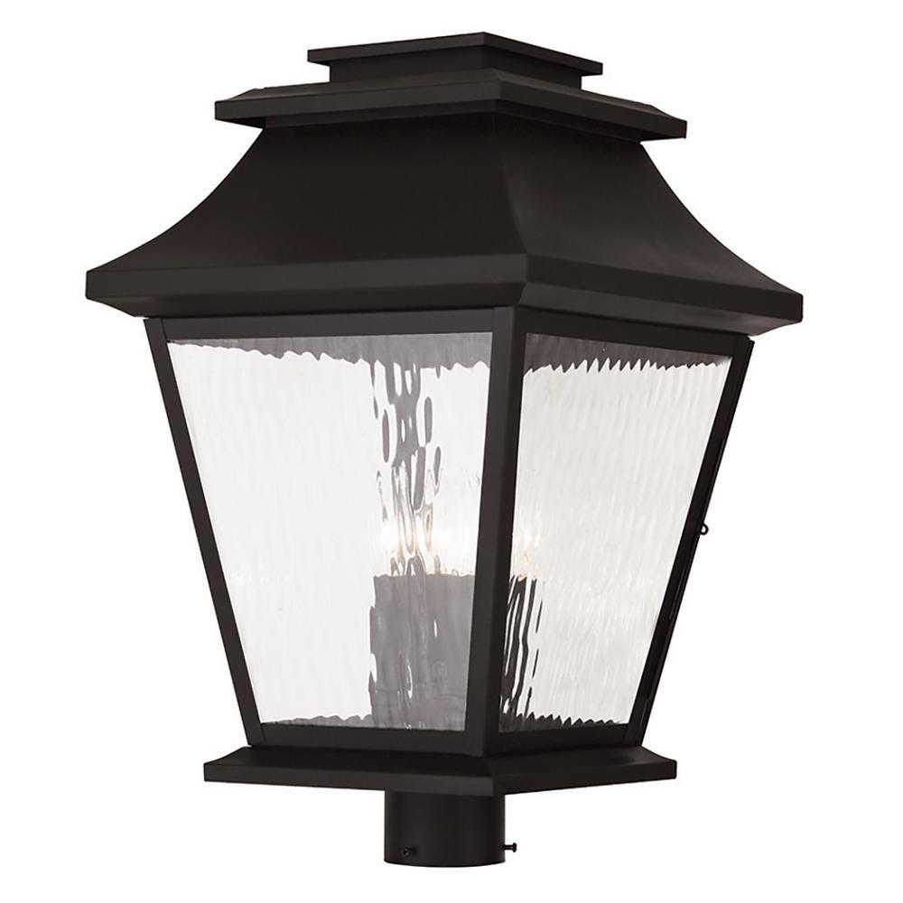 Hathaway 4-Light Outdoor BronzeBronze Post Light