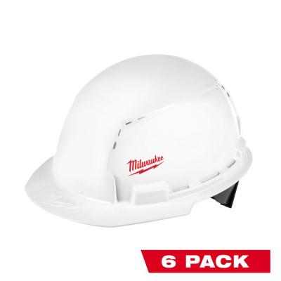 BOLT White Type 1 Class C Front Brim Vented Hard Hat with Small Logo (6-Pack)