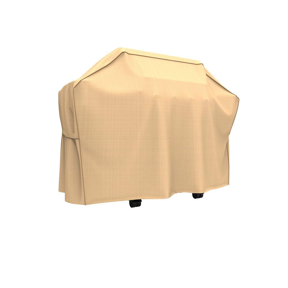 Budge Rust-Oleum NeverWet Savanna Extra-Large Tan Waterproof BBQ Grill Cover