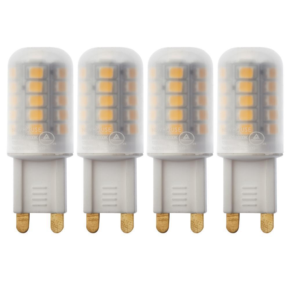 25-Watt Equivalent G9 Non Dimmable LED Light Bulb Warm White (4-Pack)