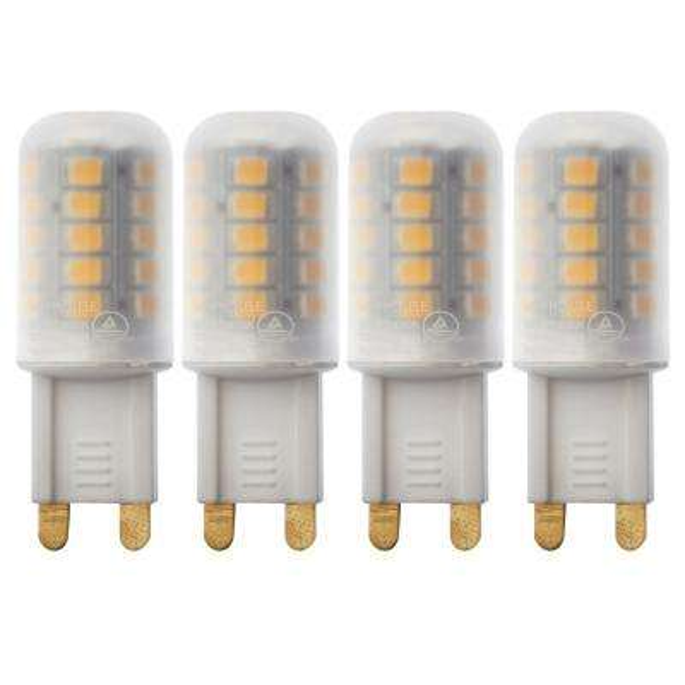 25-Watt Equivalent G9 LED Bulb Halogen Replacement Lights, Warm White (4-Pack)