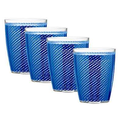 Fishnet 14 oz. Blue Insulated Drinkware (Set of 4)