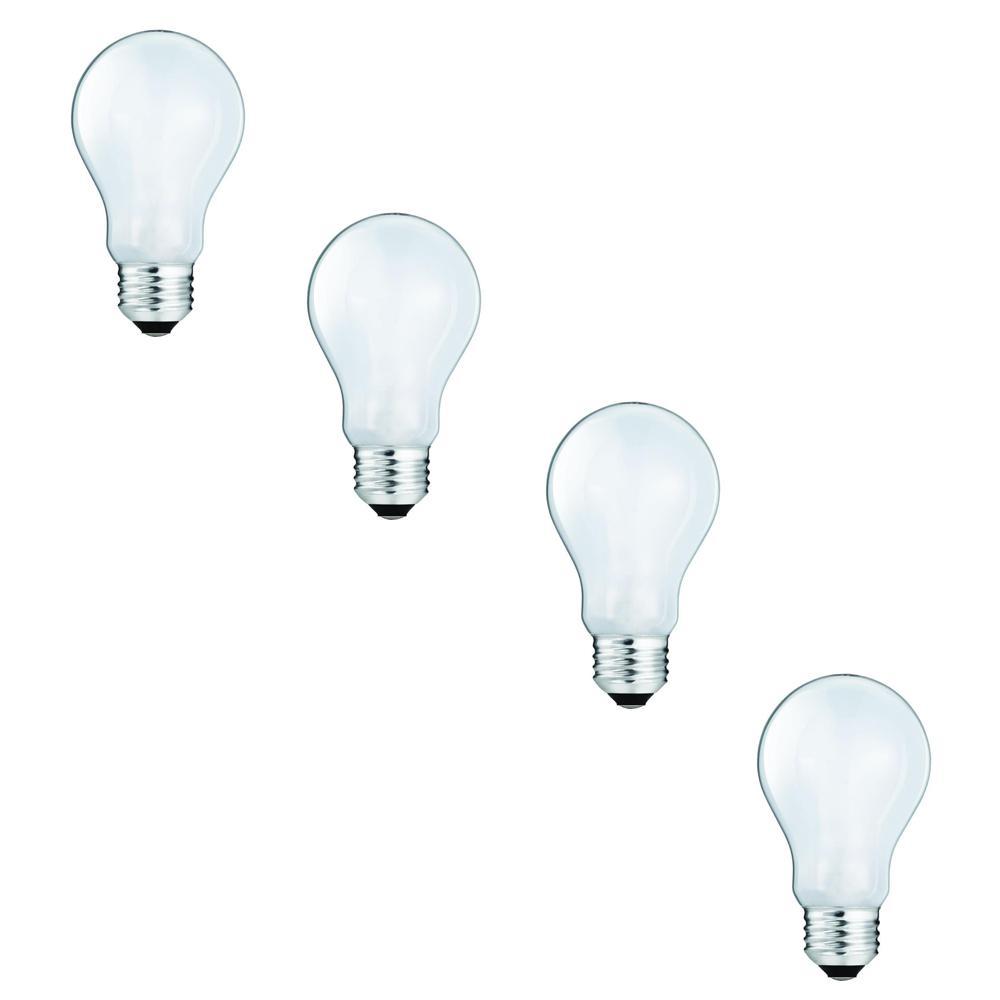 EcoSmart 100-Watt Equivalent A19 Halogen Light Bulb (4