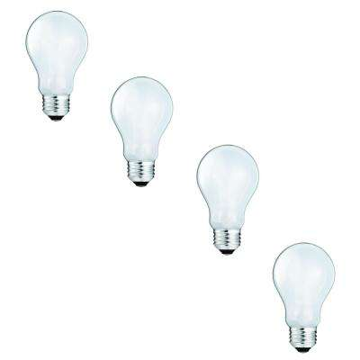 100-Watt Equivalent A19 Halogen Light Bulb (4-Pack)