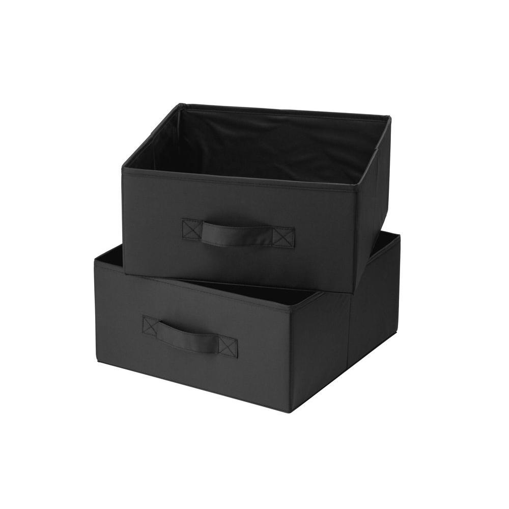Black Polyester Drawers for Hanging Organizer (2-Pack)