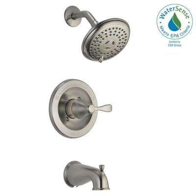 Porter Single-Handle 3-Spray Tub and Shower Faucet in Brushed Nickel