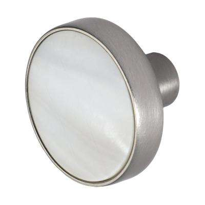Pearl 1-3/8 in. Satin Nickel Cabinet Knob
