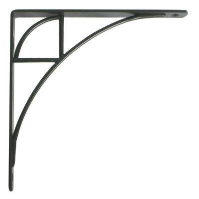 Oak Park 7.75 in. L x 0.75 in. W Black 100 lb. Decorative Shelf Bracket