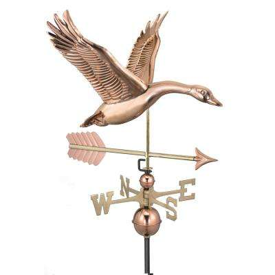 Feathered Goose with Arrow Weathervane-Pure Copper