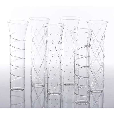 Razzle Dazzle Clear Champagne Glassses (Set of 6)