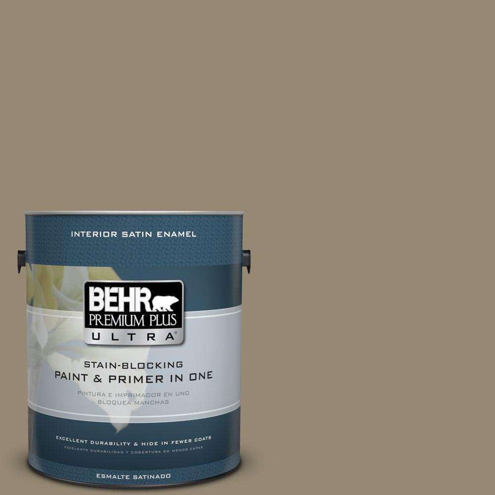 BEHR Premium Plus Ultra 1-Gal. #PPU8-3 Dry Pasture Satin Enamel Interior Paint