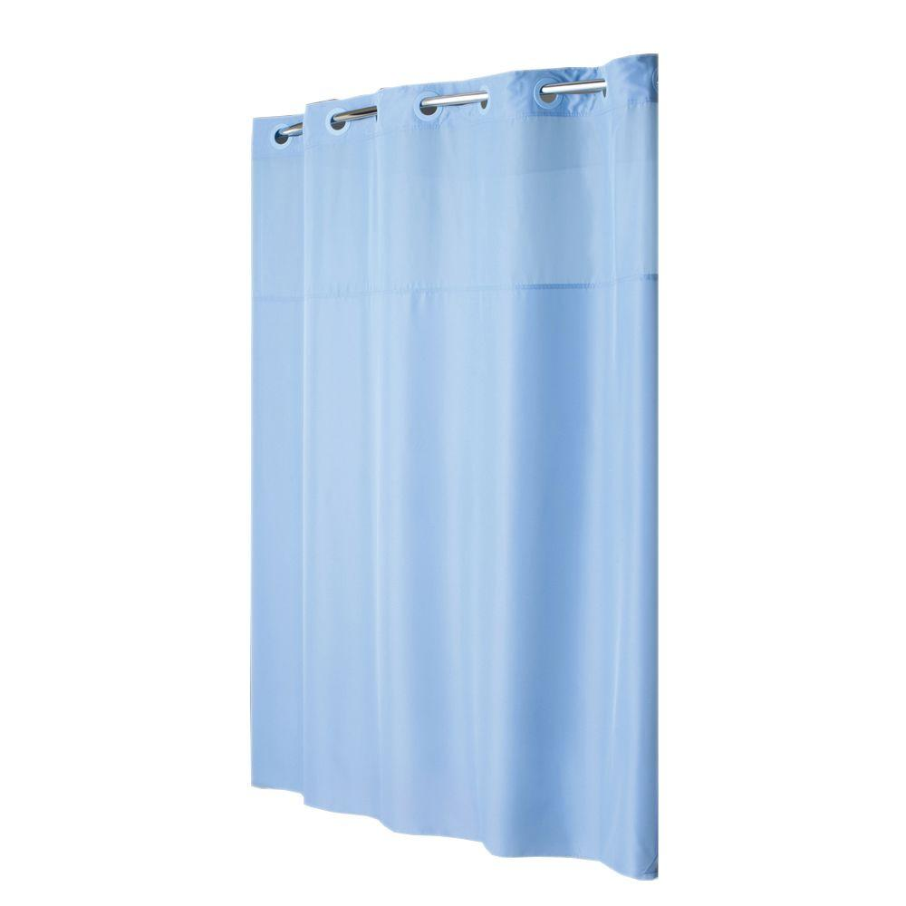 Hookless Shower Curtain Mystery with Liner in Blue
