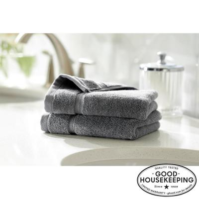 Turkish Cotton Ultra Soft Wash Cloth in Charcoal (Set of 2)