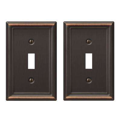 Ascher 1 Toggle Wall Plate - Oil-Rubbed Bronze Stamped (2-Pack)
