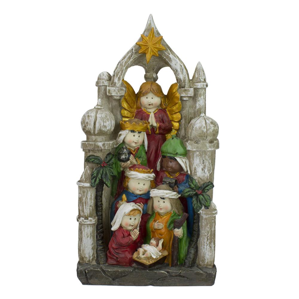 "Ready to Paint Nativity Set 8 Pieces 5/"" Mary Joseph Jesus Kings Shepherd Angel"