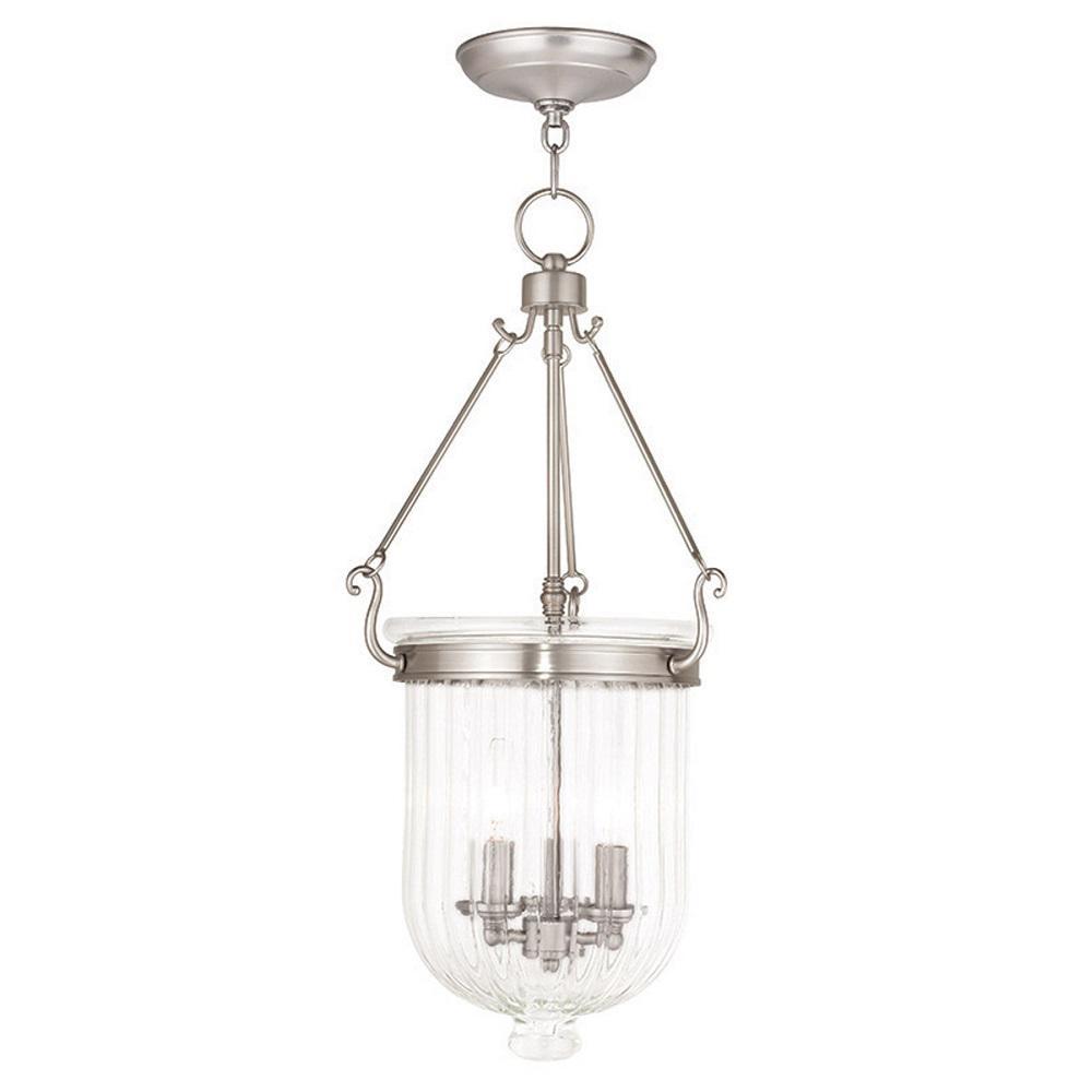 Livex Lighting Coventry 3-Light Brushed Nickel Pendant