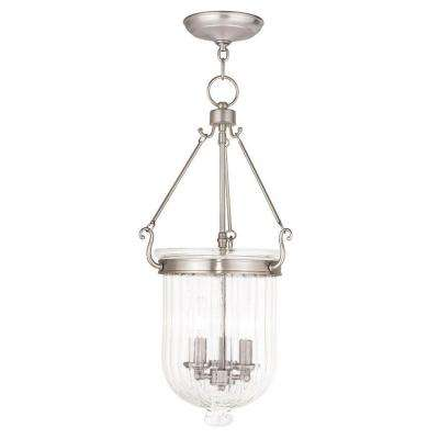 Coventry 3-Light Brushed Nickel Pendant
