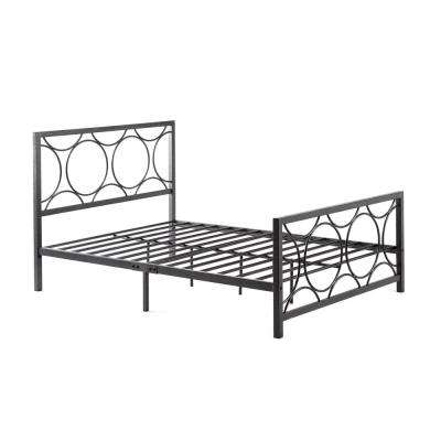 Black and Silver Queen Bed Frame