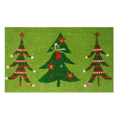 Christmas Trio 17 in. x 29 in. Coir Door Mat