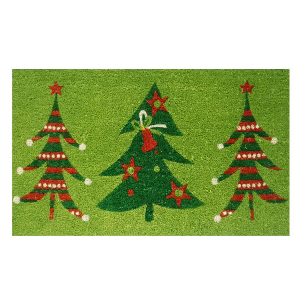Christmas Trio 17 in. x 29 in. Coir Door Mat