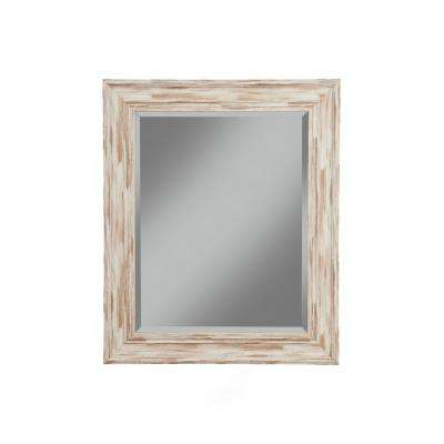 Farmhouse Antique White Wash Decorative Wall Mirror