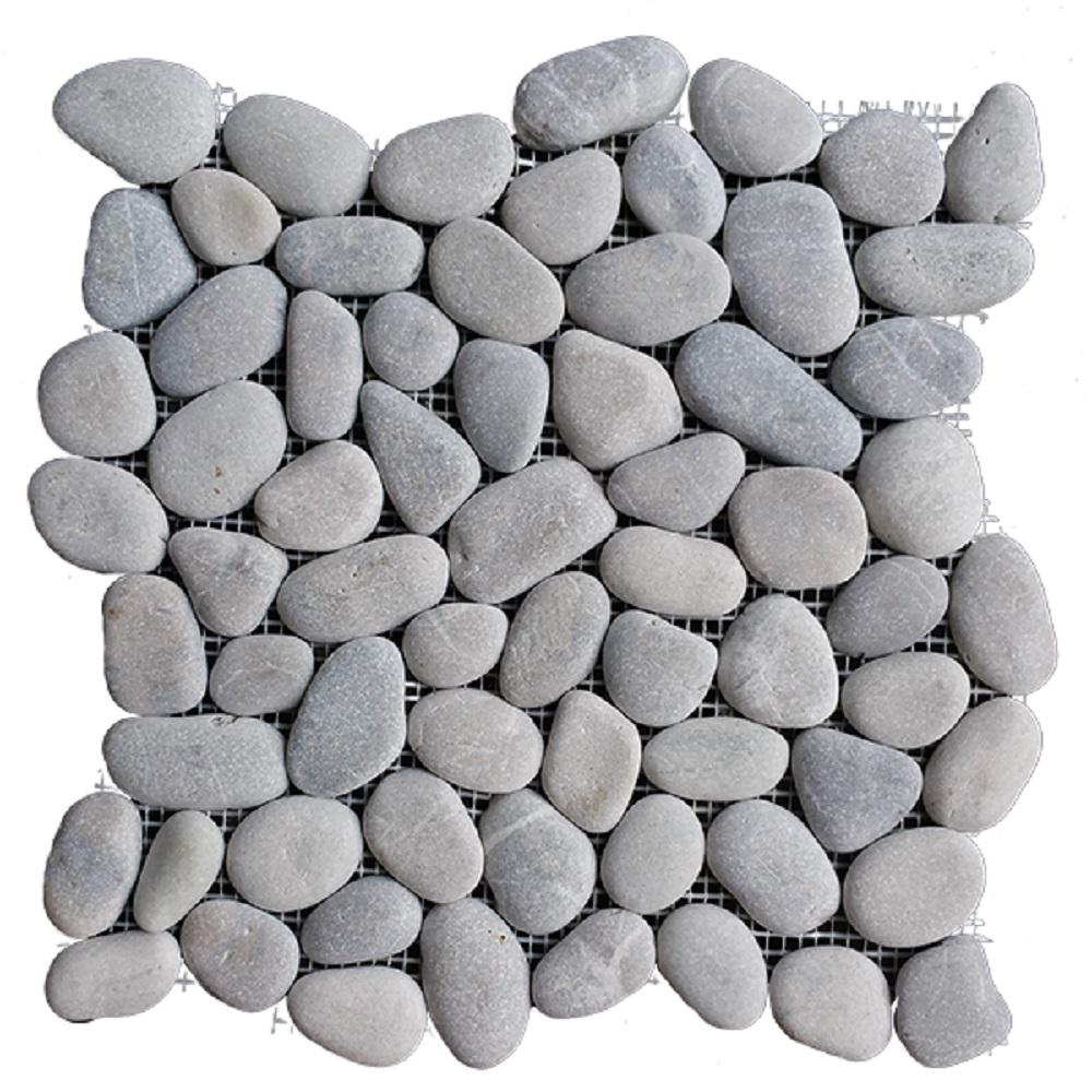 Light Grey Natural Pebble Floor