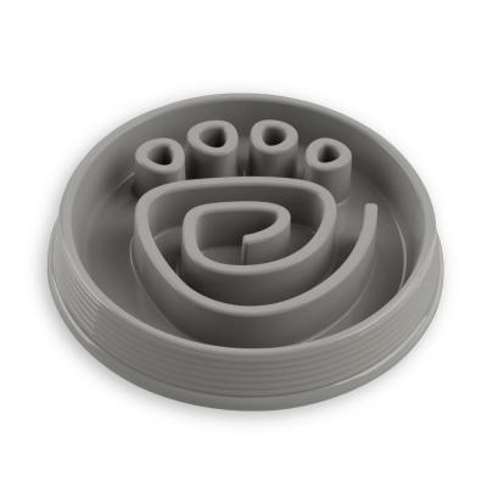 Slow Chow Paw Maze Medium Feeder in Grey