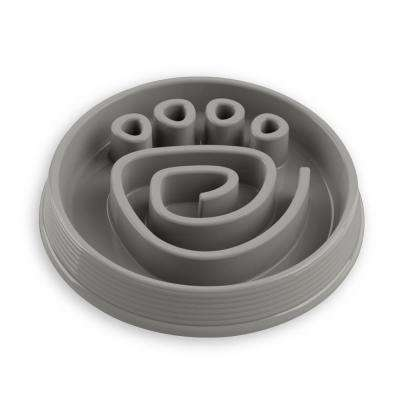 Slow Chow Paw Maze Medium Feeder in Grey