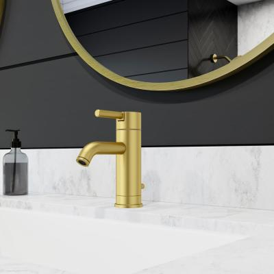 Contempra Single Hole Single-Handle Bathroom Faucet in Brushed Gold