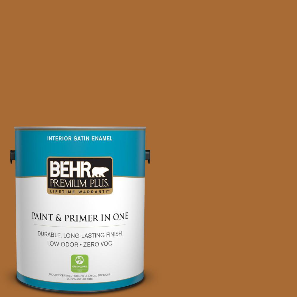 1-gal. #280D-7 Sesame Crunch Zero VOC Satin Enamel Interior Paint