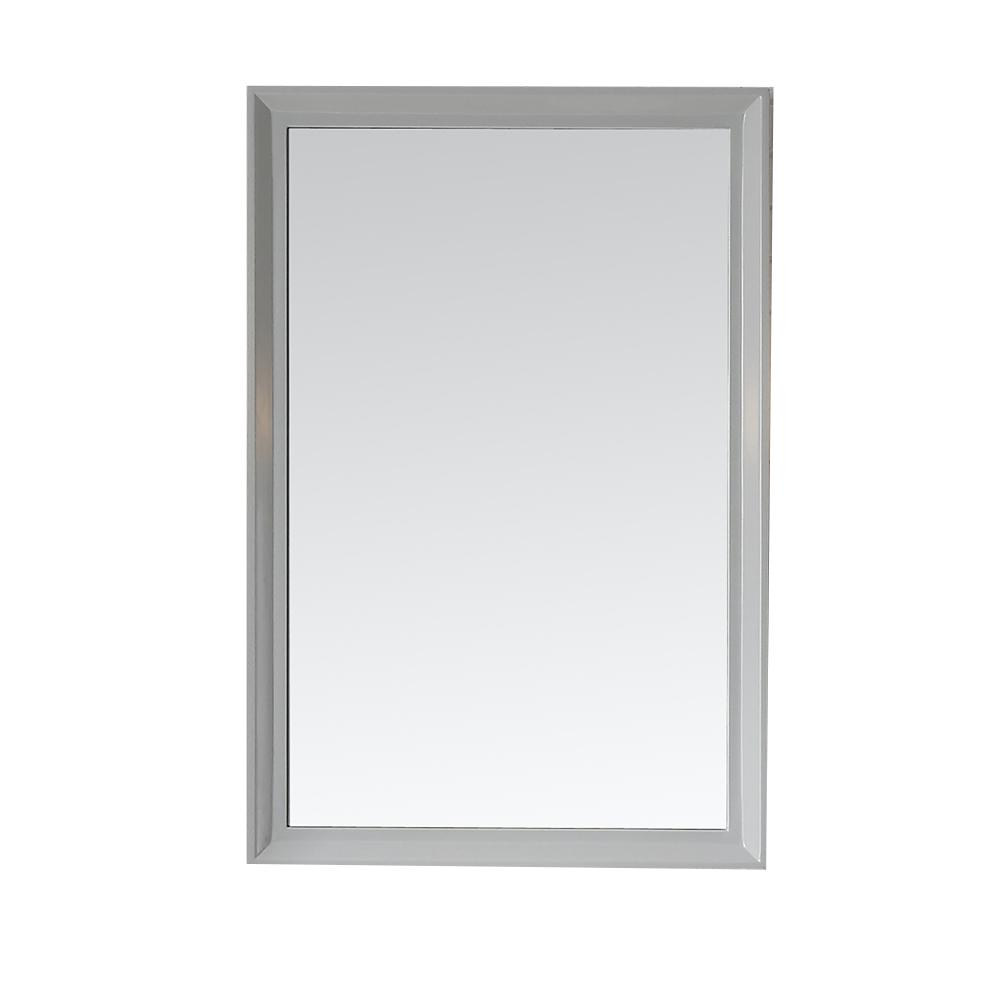 Martha Living Parrish 24 In X 36 Framed Wall Mirror Dove Grey Mr G The Home Depot